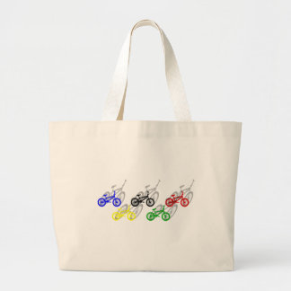 BMX rider bicyle cycling dirt track cyclist Large Tote Bag