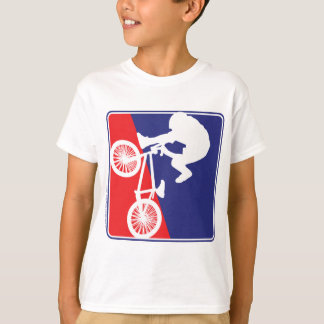 BMX Rider in Red White and Blue T-Shirt