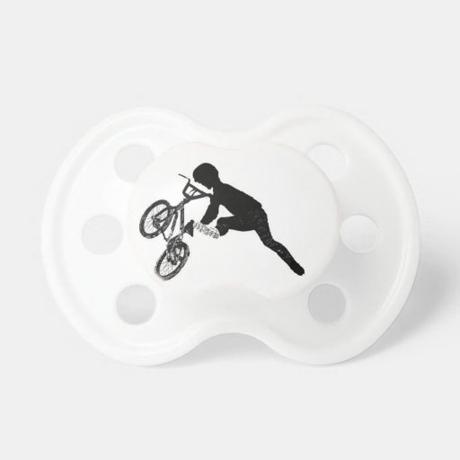 BMX Sports Bike City Team Dirt Track Park Dad Boy Pacifiers