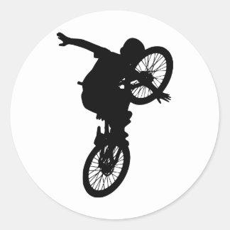 BMX Sports Dirt Bike Team Freestyle Destiny Classic Round Sticker