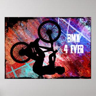 BMX sur la grunge rouillée Posters