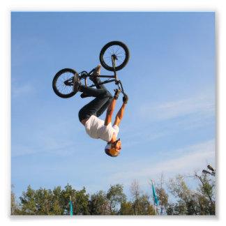 BMX Upside Down Flip Photo Print
