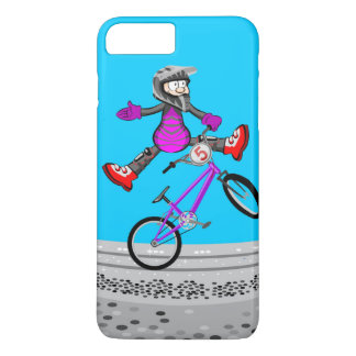 BMX young cycling flies by the air iPhone 8 Plus/7 Plus Case