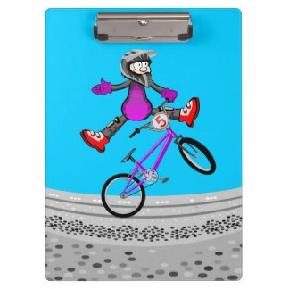 BMX young cycling jumped with their bicycle Clipboard