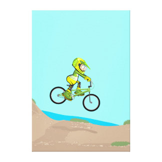 BMX young cycling lowering to the earth track Canvas Print