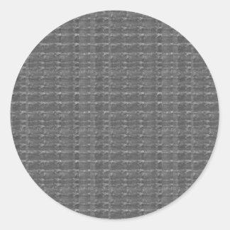 BNw Black Sparkle Art NVN298 FUN DECO shades glow Round Sticker