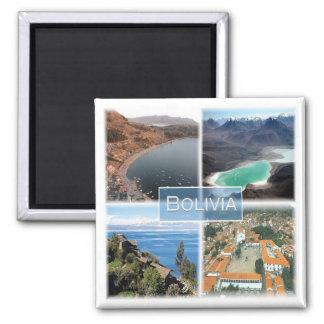 BO * Bolivia Square Magnet