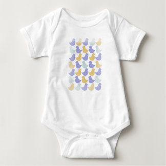 Bo muck to baby with retrotryck with bird reasons baby bodysuit