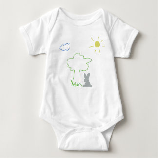 Bo muck with a summer reason with rabbit baby bodysuit