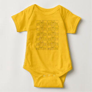 Bo muck with an elephant standard baby bodysuit