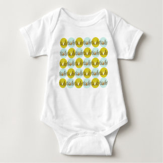 Bo muck with reasons of rabbits in grasses baby bodysuit
