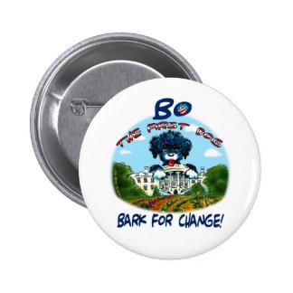 "Bo Obama ""Bark for Change!"" 2 Inch Round Button"
