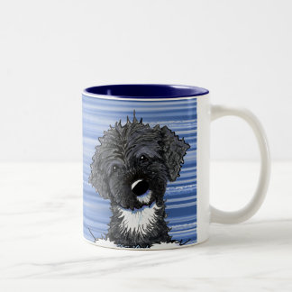 Bo Obama Portuguese Water Dog Two-Tone Coffee Mug