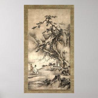 Bo Ya Plays the Qin as Zhong Ziqi Listens Poster