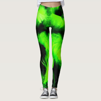 Boa Bombastic Leggings in Lush Lime