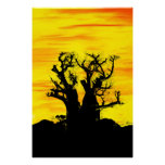 Boab Tree in Oils Archival Print