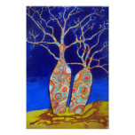 Boab Trees at Night Poster