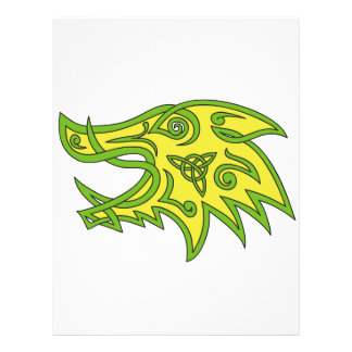 Boar Head Celtic Knot Letterhead