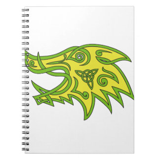 Boar Head Celtic Knot Notebook