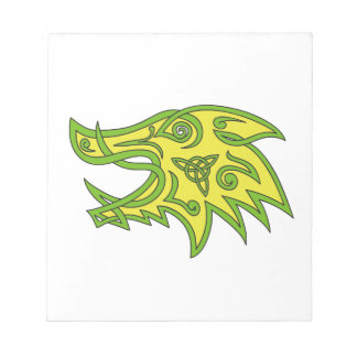 Boar Head Celtic Knot Notepad