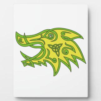 Boar Head Celtic Knot Plaque