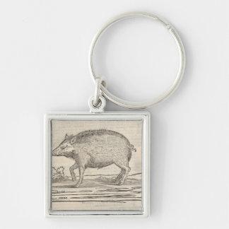 Boar Keychain