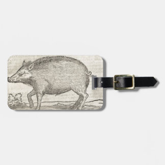 Boar Luggage Tag
