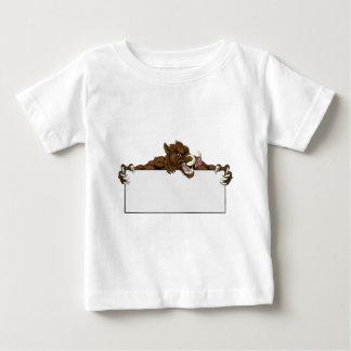 Boar Mascot Sign Baby T-Shirt