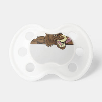 Boar Mascot Sign Pacifiers