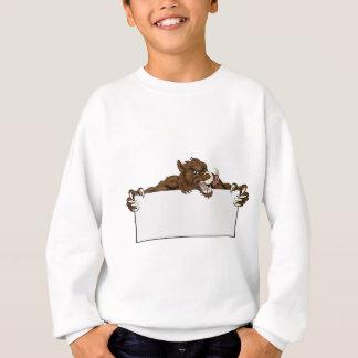 Boar Mascot Sign Sweatshirt