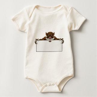 Boar Razorback Sign Baby Bodysuit