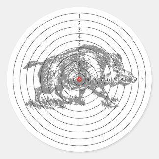 Boar Target Classic Round Sticker