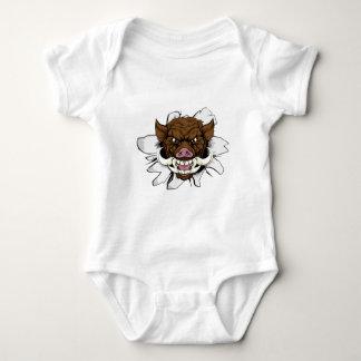 Boar Warthog Sports Mascot Baby Bodysuit