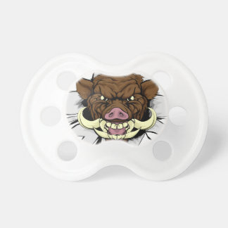 Boar Warthog Sports Mascot Baby Pacifier