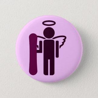 board angel. 2 inch round button