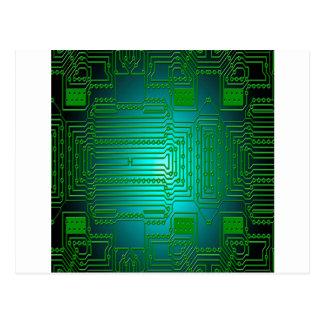 board conductors circuits postcard