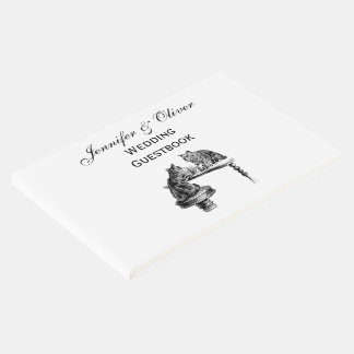 Board Games: Two Cats playing a Chess Match Guest Book
