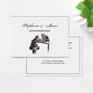 Board Games Two Cats playing Chess Match Red Business Card