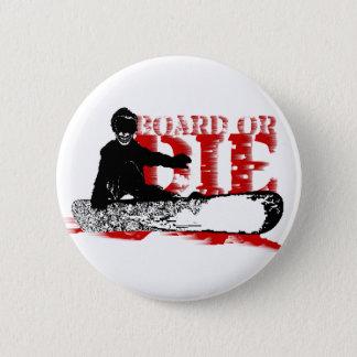 board or die skeleboarder 2 inch round button