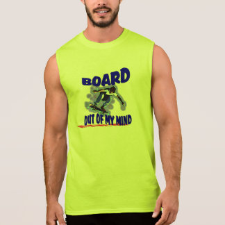 Board out of my mind sleeveless shirt