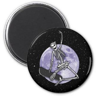 Board Skeleton 2 Inch Round Magnet