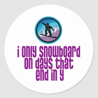 BoardChick Days Classic Round Sticker