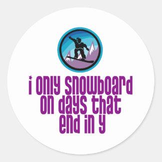 BoardChick Days Round Sticker