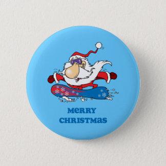 BoardChick Santa Merry Christmas 2 Inch Round Button