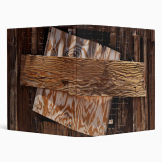 Boarded Up Old Wooden House Window Binder