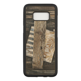 Boarded Up Old Wooden House Window Carved Samsung Galaxy S8 Case