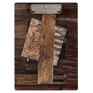 Boarded Up Old Wooden House Window Clipboard