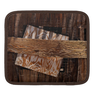 Boarded Up Old Wooden House Window iPad Sleeve