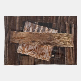 Boarded Up Old Wooden House Window Kitchen Towel