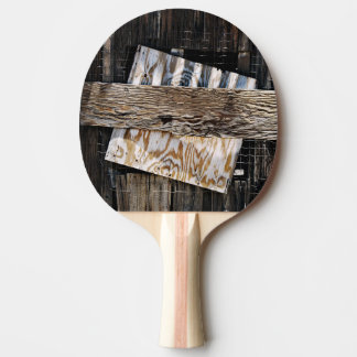 Boarded Up Old Wooden House Window Ping Pong Paddle